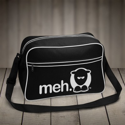 Sheep-ish ® Meh Retro Shoulder Bag Black