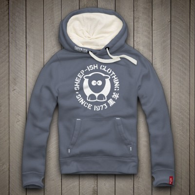 Sheep-ish ® Clothing Since 1973 Denim Blue Unisex Hoodie