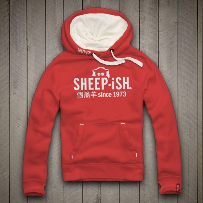 Sheep-ish ® 個黑羊 since 1973  Unisex Red Hoodie