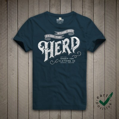 Sheep-ish ® Stand Out From the Herd Unisex Organic T-shirt