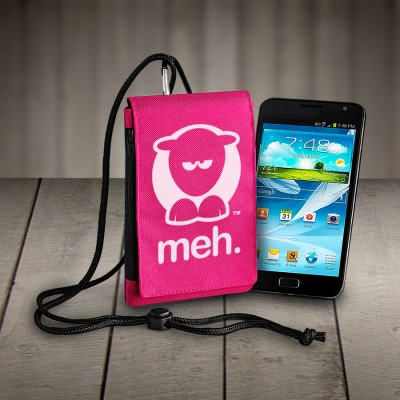 Sheep-ish ® Meh Phone Pouch Hot Pink