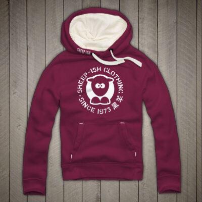 Sheep-ish ® Clothing Since 1973 Cranberry Unisex Hoodie