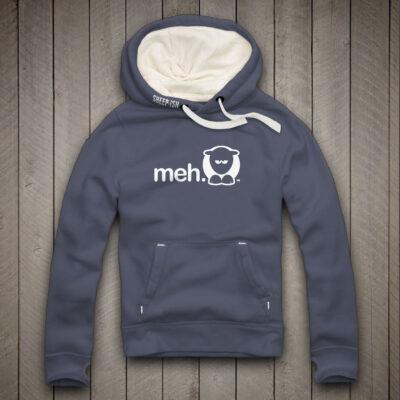 Sheep-ish ® Clothing Meh Hoodie Denim Blue