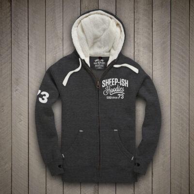 Sheep-ish ® Hoods Marl Grey Sherpa