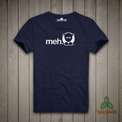 Sheep-ish ® Meh Salvage™ Recycled/Organic T-shirt Navy