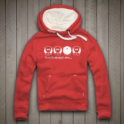 Sheep-ish ® Clothing 'There's Always One' Bum Hoodie Red
