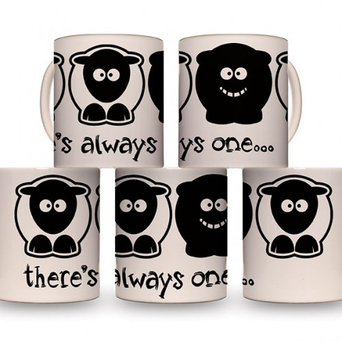 Sheep-ish ® There's Always One…Black Sheep 10oz Mug