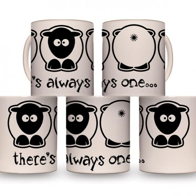 Sheep-ish ® There's Always One…Bum Sheep 10oz Mug