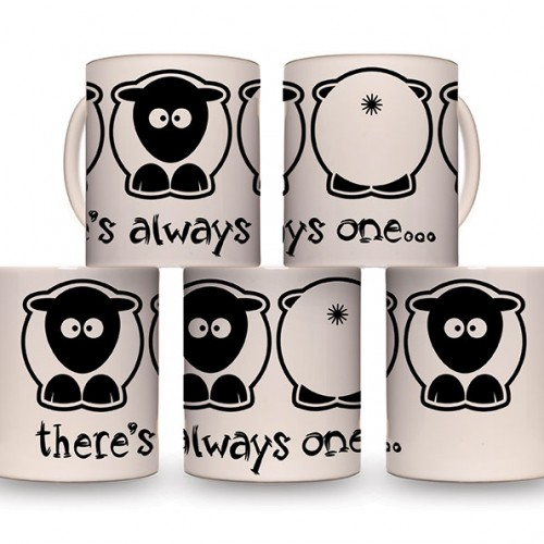 Sheep-ish ® There's Always One…Bum Sheep 10oz Mug
