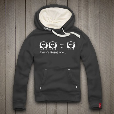Sheep-ish ® There's Always One… Black Sheep Unisex Hoodie