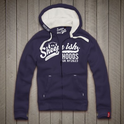 Sheep-ish ® Hoods Midnight Blue Zip Hoodie