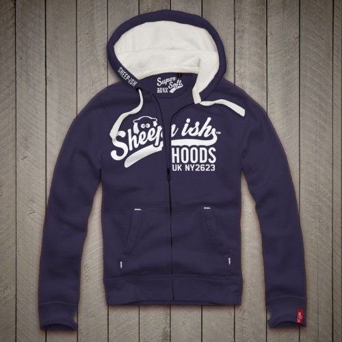 Sheep-ish ® Hoods Midnight Blue Zip Hoodie