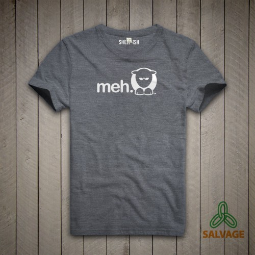 Sheep-ish ® Grey Meh Salvage™ Recycled/Organic T-shirt