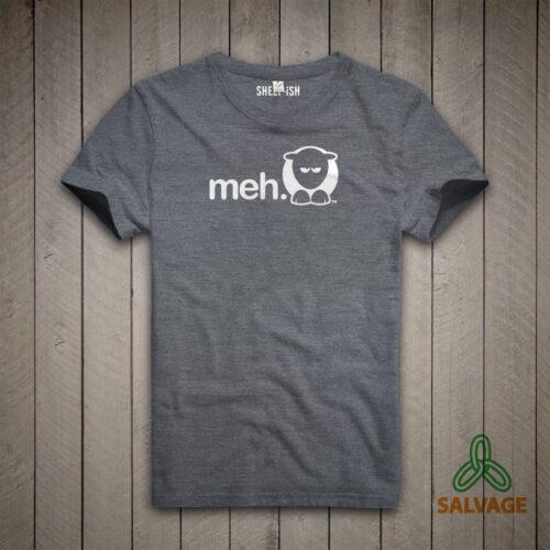 Sheep-ish ® Grey Meh Salvage™ Recycled/Organic T-shirt