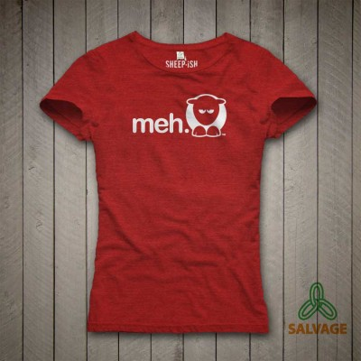 Ladies Slim Fit 'Meh' Salvage™ Recycled/Organic T-shirt