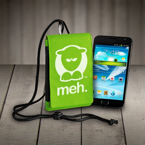 Sheep-ish ® Meh Phone Pouch Lime Green