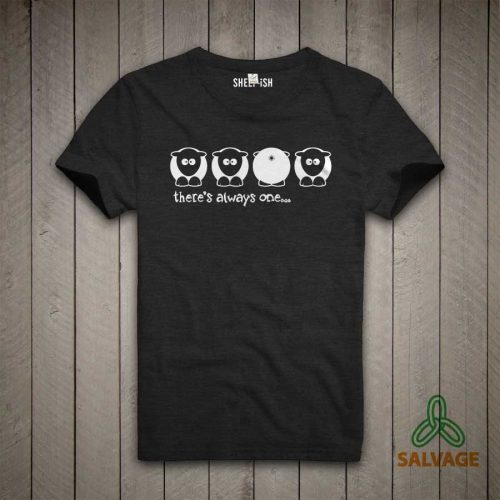Sheep-ish ® 'There's always one' Bum Salvage™ Recycled/Organic T-shirt
