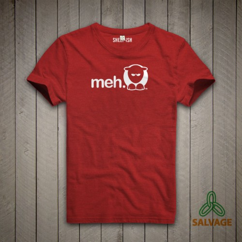 Sheep-ish ® Red Meh Salvage™ Recycled/Organic T-shirt Red