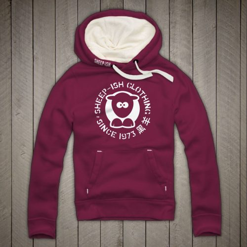 Sheep-ish ® Clothing Since 1973 Cranberry Unisex Hoodie