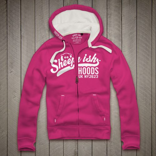 Sheep-ish ® Hoods Honeysuckle Zip Hoodie
