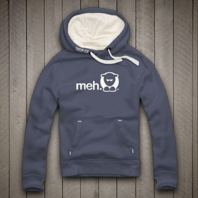 Sheep-ish ® Clothing Meh Hoodie Denim Blue