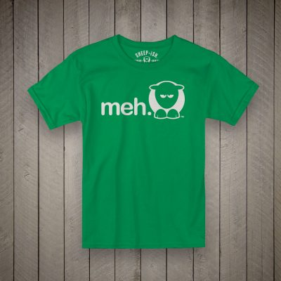 Sheep-ish ® Kids Organic Meh® T-Shirt Green