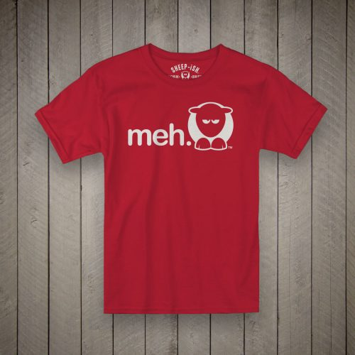 Sheep-ish ® Kids Organic Meh® T-Shirt Red