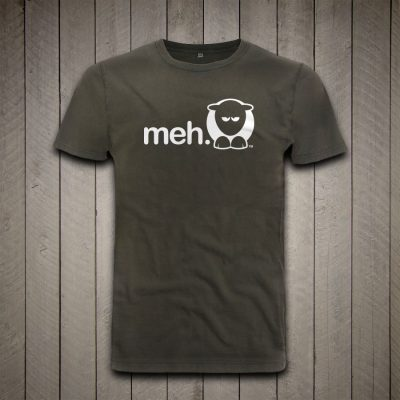 Sheep-ish ® Stonewash Green Meh Earth Positive™ Organic Cotton T-shirt