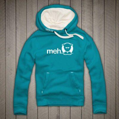 Sheep-ish ® Clothing Meh Hoodie Caribbean Blue