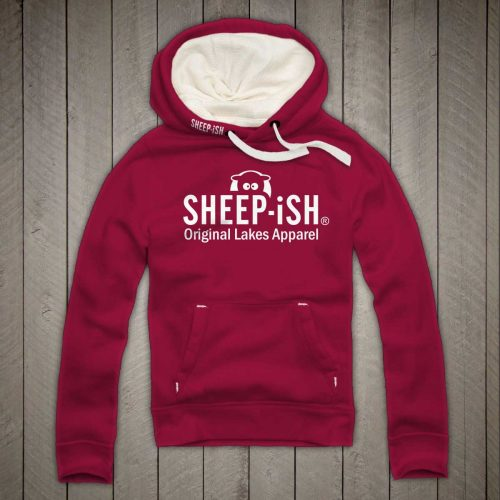 Sheep-ish ® Clothing Original Lakes Apparel Hoodie Cranberry