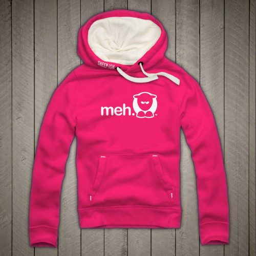 Sheep-ish ® Clothing Meh Hoodie Pink