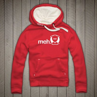 Sheep-ish ® Clothing Meh Hoodie Red