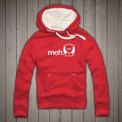 Sheep-ish ® Clothing Meh Hoodie Red