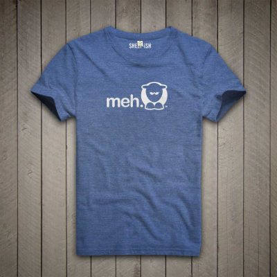 Sheep-ish ® Royal Blue Meh Salvage™ Recycled/Organic T-shirt