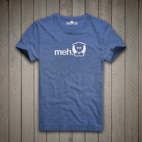 Sheep-ish ® Royal Blue Meh Salvage™ Recycled/Organic T-shirt