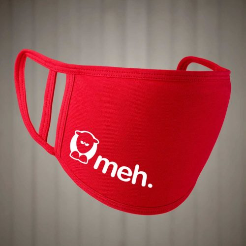 Sheep-ish ® Meh Face Covering Red