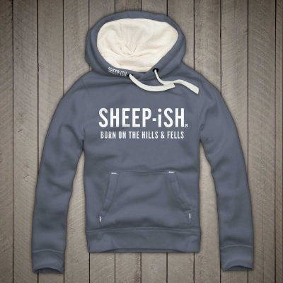 Sheep-ish ® Clothing Hills & Fells Hoodie Denim Blue