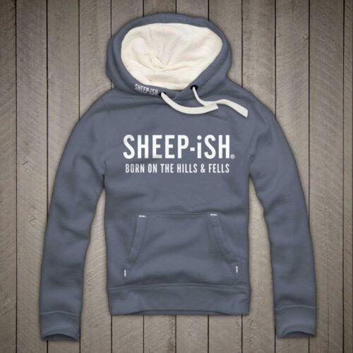 Sheep-ish ® Clothing Hills & Fells Hoodie Denim Blue