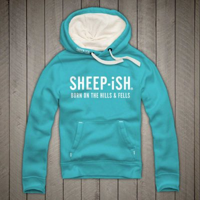 Sheep-ish ® Clothing Hills & Fells Hoodie Lagoon Blue