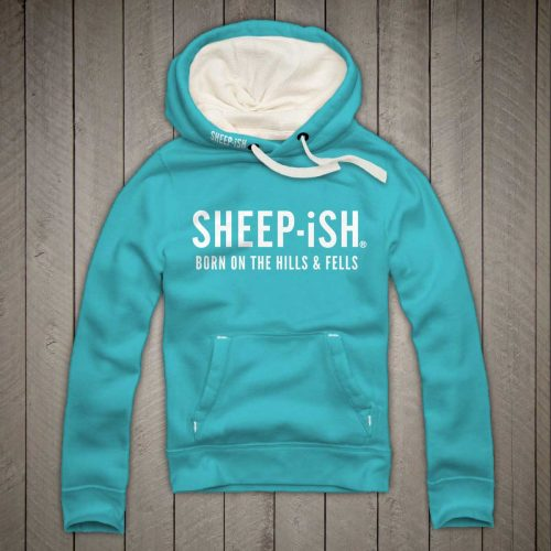 Sheep-ish ® Clothing Hills & Fells Hoodie Lagoon Blue