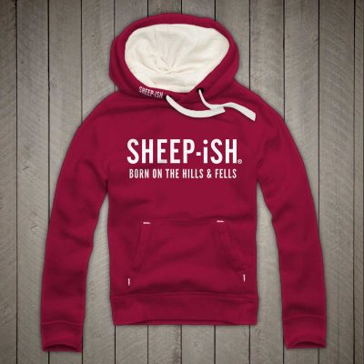 Sheep-ish ® Clothing Hills & Fells Hoodie Cranberry