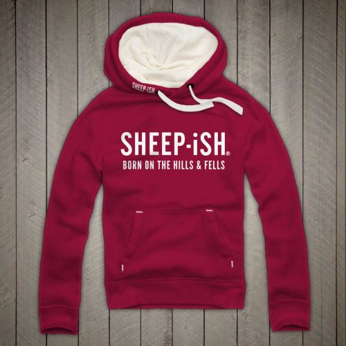 Sheep-ish ® Clothing Hills & Fells Hoodie Cranberry